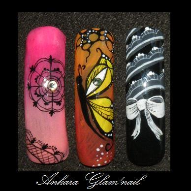Nail art peinture à mains levée